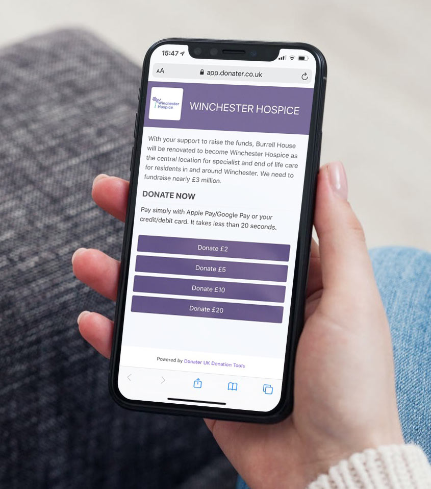 Cashless Donation Contactless for Charities